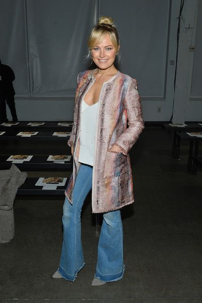 Actress Malin Akerman attends the Carlisle Fall/Winter 2018 Runway Show during New York Fashion Week.