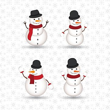 Christmas Snow Man Set Pattern Man Icons Christmas Icons Snow Icons Png And Vector With Transparent Background For Free Download Snowmen Patterns Christmas Icons Snowman
