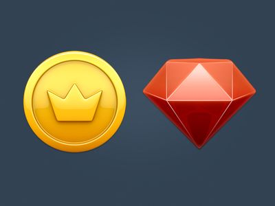 coin & ruby icons  #ios #app #design
