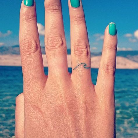Pin for Later: 28 Adorable Tattoos That Are Appropriate For Work Wave Hi