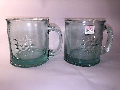 Starbucks Recycled Glass Mug Spain San Miguel Cup Pair Mugs Recycling