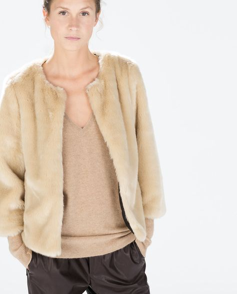 SHORT FUR JACKET - Outerwear - WOMAN | ZARA Czech Republic