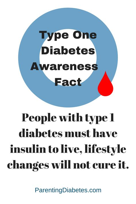 Diabetes awareness month: Fact: People with type 1 diabetes must have insulin to live, lifestyle changes and concoctions do not cure it.