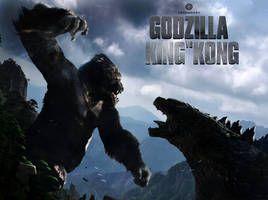 Kingkong Vs Godzilla Cover By Goldammerart King Kong Vs Godzilla Godzilla Vs Fan Poster