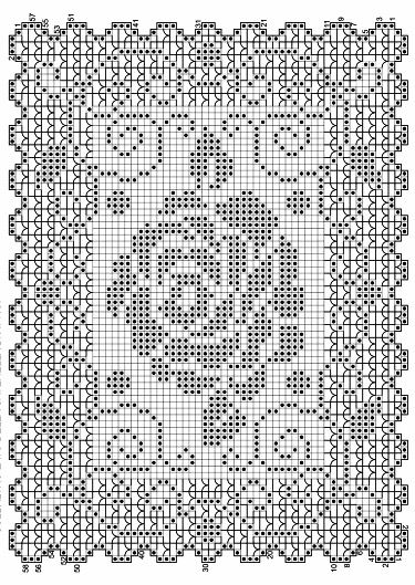 This pin just takes you to a larger picture. But with Filet Crochet, you may not need more. ------------- @nika