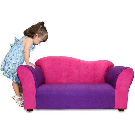 Keet Kid's Wave Microsuede Sofa | AllModern