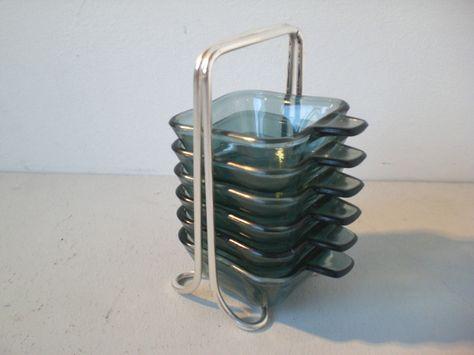 Wagenfeld Aschenbecher Glass Design Bauhaus Ashtrays