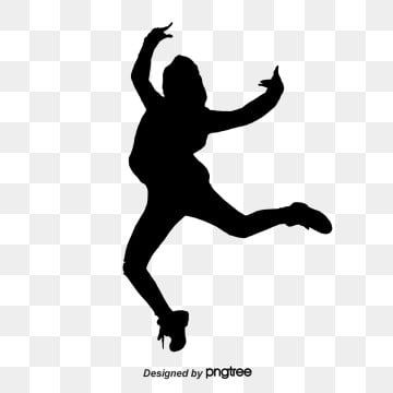 Creative Silhouettes Of Hand Painted Hip Hop Dance Characters Dance Silhouette Hip Hop Dance Dancing Clipart