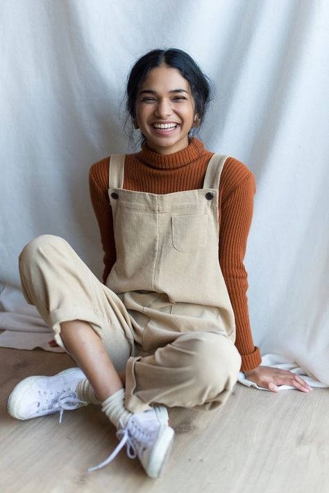 Pocket Point Corduroy Dungarees, Beige Cute Casual Outfits, Fall Outfits, Summer Outfits, Fashion Outfits, Women's Fashion, Dungarees Outfits, Dungaree Dress, Beige Outfit, Emo Outfits