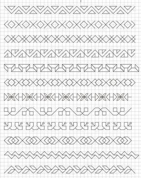 Normanpanco In 2020 Schwarzstickerei Muster Kariertes Papier Geometrisches Zeichnen