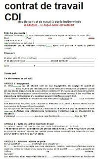 Contrat De Duree Indetermine Feuille 16 Exemples Modifiables Modele De Contrat Lettre De Motivation Emploi Modele Contrat De Travail