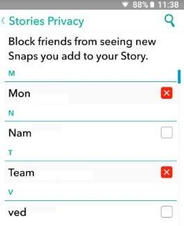 How To Block Someone From Seeing Your Snapchat Story Android Bestusefultips Snapchat Stories Story Snapchat
