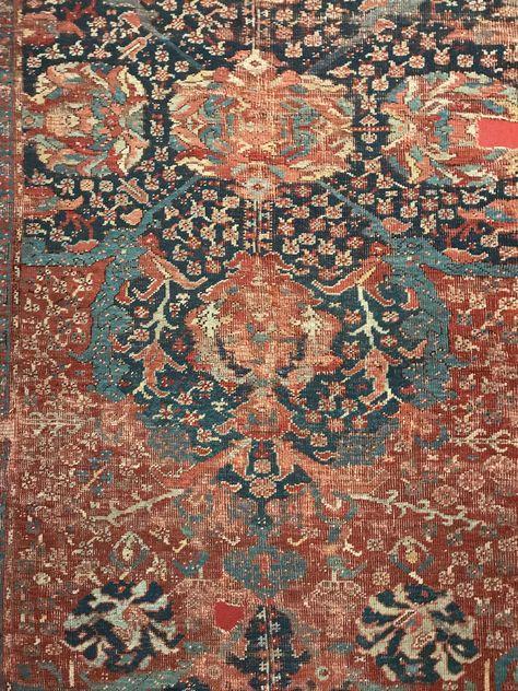 Oushak Usak Carpet Detail From