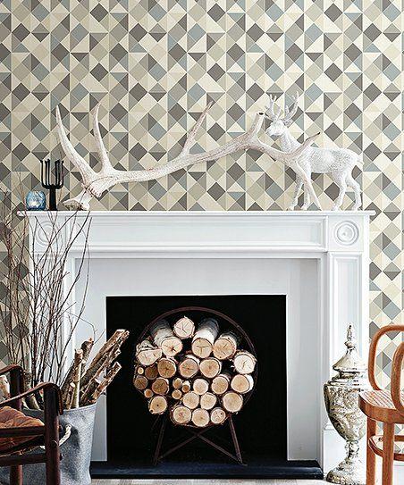 Brewster Home Fashions Geometric Peel Stick Wallpaper Zulily Wall Wallpaper Peel And Stick Wallpaper 3d Wallpaper Panels