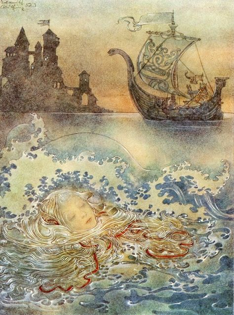 The Little Mermaid illustrated by Sulamith Wulfing  (1953)