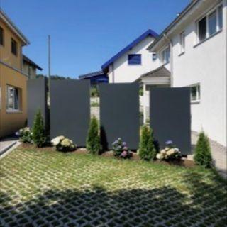 Projekt Schweiz Terrassensichtschutz Stelen Garten Garten Design