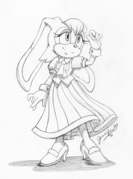 Vanilla Sketch By Chibi Jen Hen Chibi How To Draw Sonic Sonic Fan Art