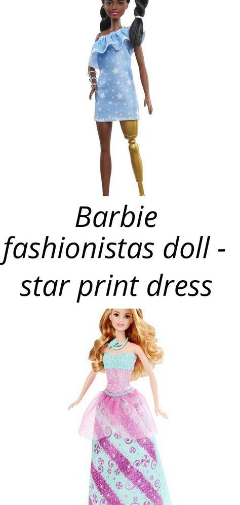 Barbie fashionistas doll - star print dress