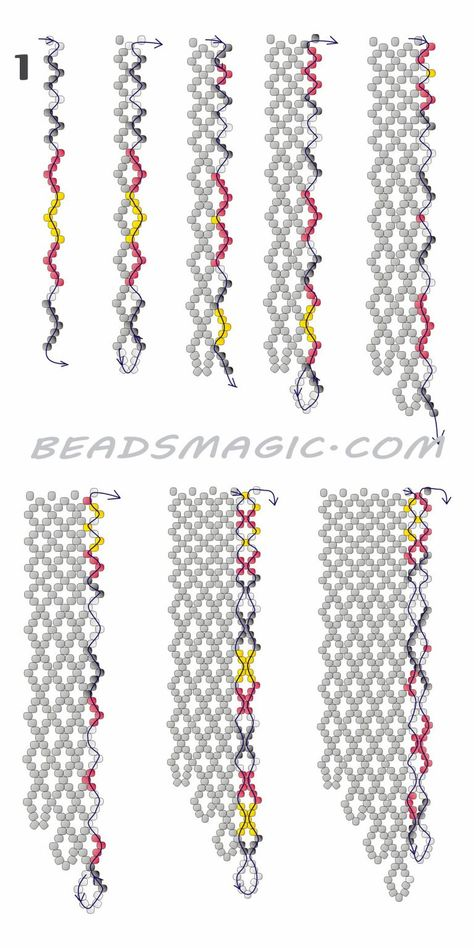 Free pattern for necklace Mexico in native style. U need : seed beads
