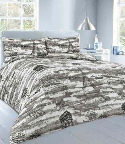 New Polycotton Printed Duvet Quilt Cover Set with Pillow Cases Bedding Sets