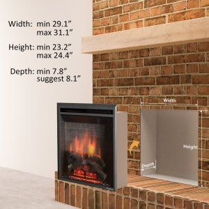 Puraflame 30 Western Electric Fireplace Insert With Remote