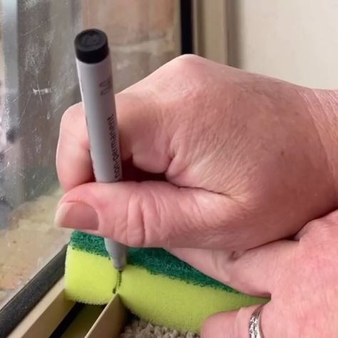 Window frames are always difficult to clean however, I have found this to be a simple solution. Mold grow in these areas pretty fast.