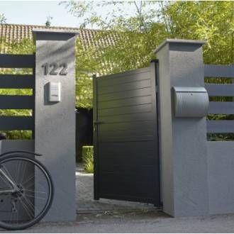 Portail Coulissant Aluminium Jena Gris Anthracite Primo L