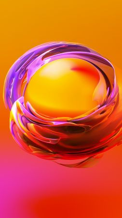 Sphere 3d Orange Yellow Hd Vertical Cool Backgrounds Wallpapers Abstract Cool Backgrounds