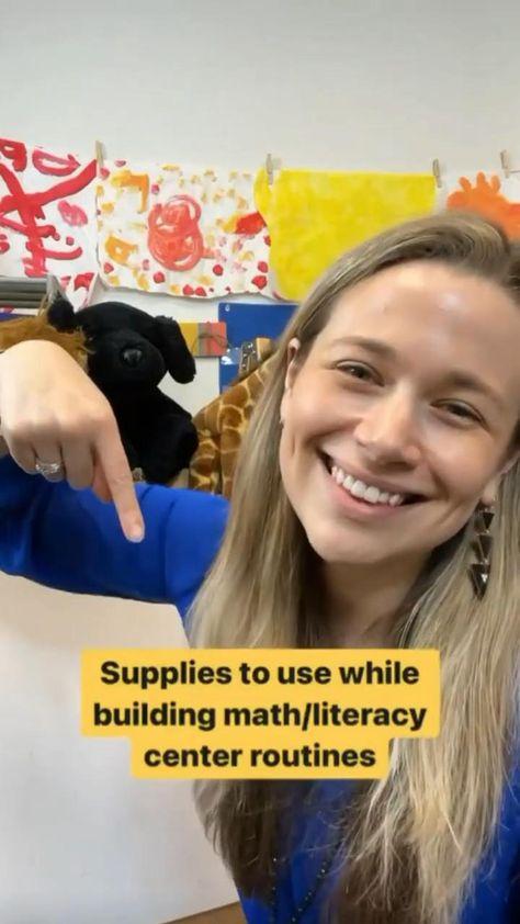 Teaching supplies for building math & literacy center routines in Pre-K & Kindergarten
