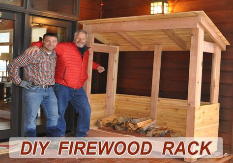 Learn how to build a firewood rack to store and dry out logs. DIY PETE provides a video tutorial, project photos, and FREE firewood rack plans.