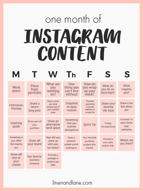 My simple method for how I come up with Content for my Instagram Grid