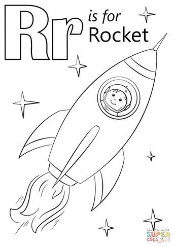 Letter R Is For Rocket Coloring Page From Letter R Category Select From 29189 Printable Crafts Of Cart Letter R Crafts Letter A Crafts Alphabet Coloring Pages