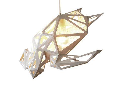 Sea Turtle Lampshade Polygonal Animals Diy Paper Sculpture