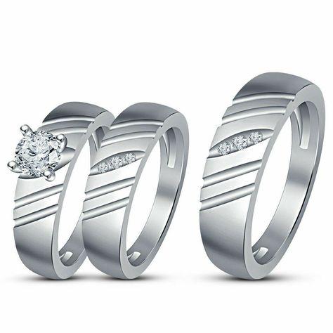 Dividiamonds 1Carat Round Cut Black /& D//VVS1 Diamond Womens Earrings In 14K White Gold Plated 925 Silver