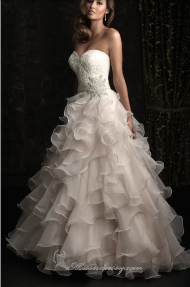 Wedding Dress with Ruffle Skirt