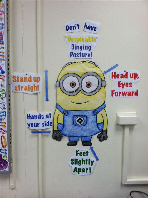 Minion singing posture poster!! This is perfect for learning posture and presence while your singing!