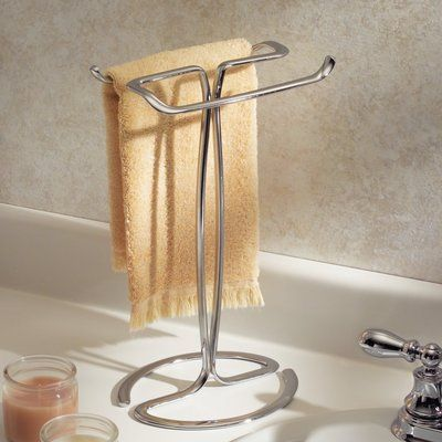 Rebrilliant Eilerman Free Standing Towel Stand Finish Chrome