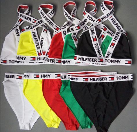 Sexy Reworked Tommy Hilfiger bikini set / underwear
