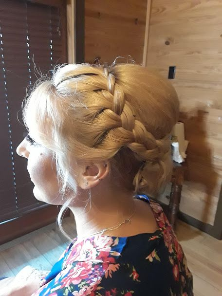 Side Of Our Braided Beauty Wedding Hair And Makeup Formal Hairstyles Wedding Hairstyles