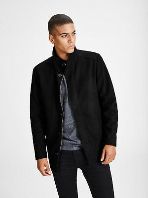 Ebay Sponsored Jack Jones Premium Moolin Wool Jack In Dark Grey Rst107 Mens Cotton Sweaters Versatile Jackets Half Zip Sweaters