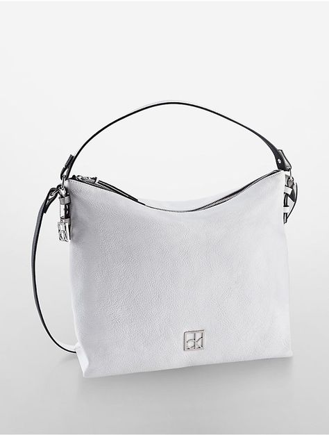 Womens Zip Calvin Klein Cassidy Bag WhiteWeiße Top Hobo TPiXuOkZ