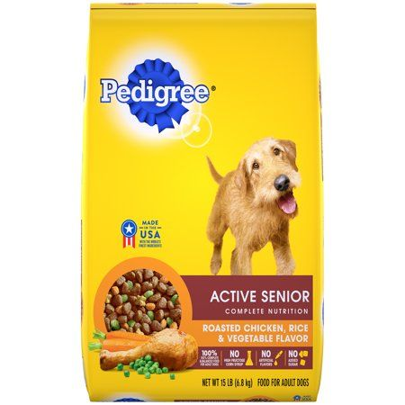 Pedigree Active Senior Dry Dog Food Roasted Chicken Rice