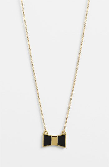 kate spade new york 'bow shoppe' pendant necklace available at Nordstrom