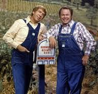 Hee Haw, Buck Owens, Roy Clark and Gunilla Hutton, my dad liked this show (wonder why??)