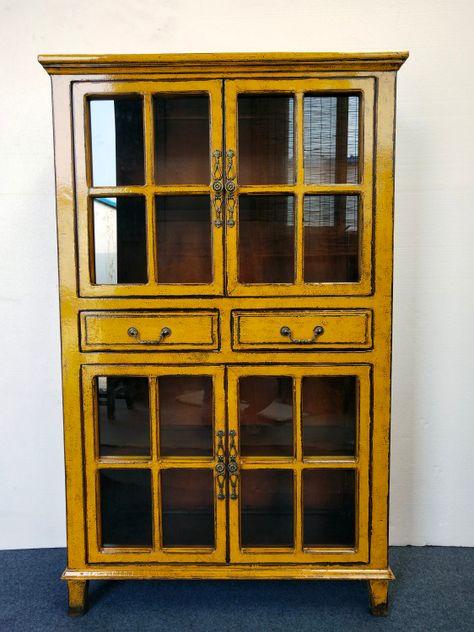 Yellow antique finish