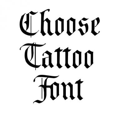 Old English Tattoo Font Generator For Free Old English Tattoo Old English Font Tattoo Font Generator