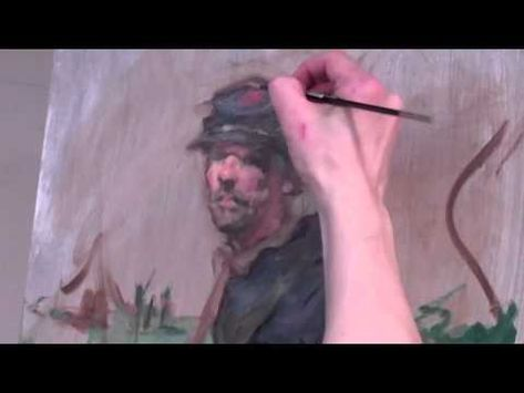 """Rob Liberace demos an alla prima portrait on the first day of his workshop, """"The Painterly Sketch: Advanced Alla-Prima Portrait."""" In part 3 of 3, Rob adds detail to the subject's face and wraps up the portrait."""