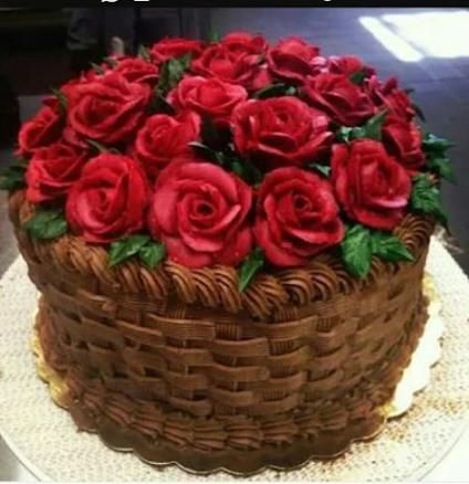 New Basket Flower Cake Buttercream Ideas Flower Cake Valentine Cake Basket Weave Cake