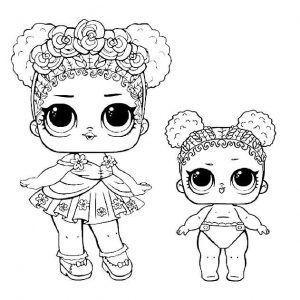 Lol De Colorat Fise De Colorat Lol Lil Sisters Lol Dolls Coloring Pages Lil Sister
