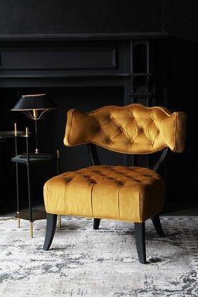 gold Cloud Velvet Chair - Golden...